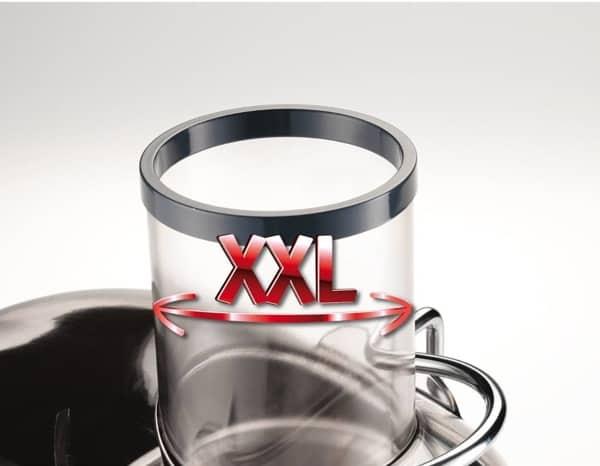 Recensione centrifuga Moulinex JU655H - Tubo di inserimento XXL - Oasi del succo