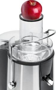 Recensione centrifuga Clatronic AE 3465 - Tubo di inserimento XL - Oasi del succo